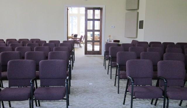 Center Aisle to Reception Area